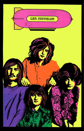 Led Zeppelin 1971 Head Shop Poster Woodstock Trading Company