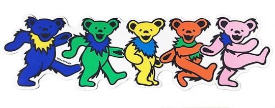 Grateful Dead Row Of Bears Die Cut Magnet