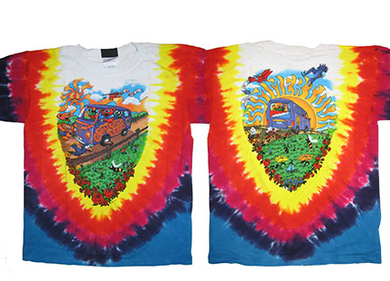 Grateful Dead Summer Tour Bus Tie Dye Youth Shirt